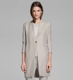 MATRIX LINEN COAT
