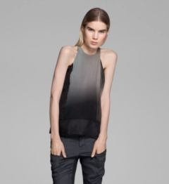 MERCURY OMBRE ORGANZA TOP