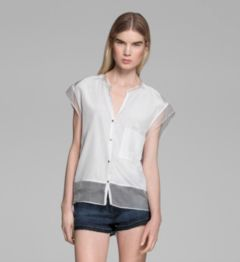 SILK COTTON SHIRTING TOP