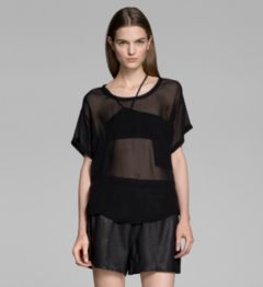 GHOST SILK SEAM POCKET TOP