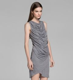KINETIC JERSEY DRAPED DRESS