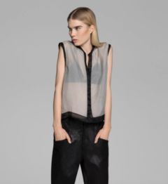 WASHED ORGANZA TOP