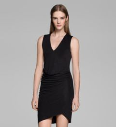 SHALE JERSEY ROUCHED DRESS
