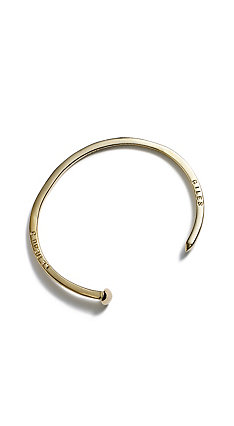 Giles & Brother Gold Mini Railroad Spike Cuff Bracelet