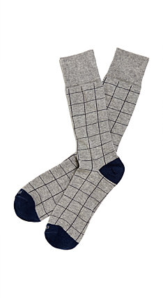Etiquette x Theory - Mens Harbour Windowpane Grey