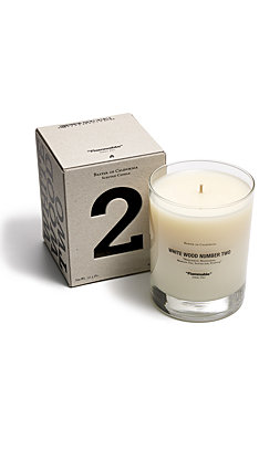 Baxter of California White Wood Number 2 Candle
