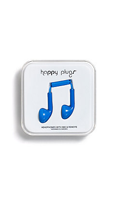 Happy Plugs Ear Bud Blue Headphones