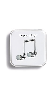 Happy Plugs In-Ear Silver & Rose Gold Headphones