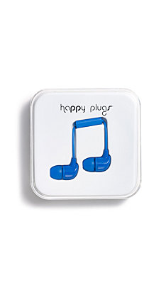 Happy Plugs In-Ear Blue Headphones