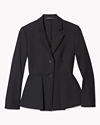 Bi-Stretch Cotton Peplum Jacket