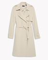 Soft Crepe Trench Coat