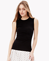 Ribbed Knit Side Ruched Top