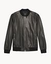 Slim Leather Bomber Jacket