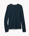 Cotton Waffle Crewneck Sweater