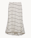 Silk Stripe Midi Skirt