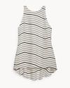 Silk Diagonal Stripe Top