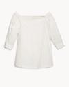 Cotton Poplin Off-The-Shoulder Shirt
