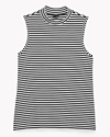 Cotton Stripe Mock Tank