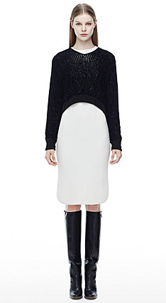 Kaska B Sweater, Deige Dress, Eames Boot