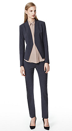 Charcoal Lanai Jacket & Louise Pant in Urban Stretch Wool