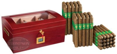 BARREL HUMIDOR PLUS THOMPSON GREEN LABEL NATURAL CORONA COMBO