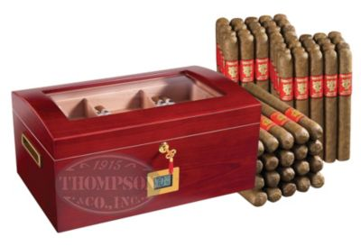 BARREL HUMIDOR RED NATURAL COMBO