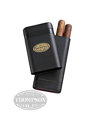3 Finger Black Telescoping Cigar Case
