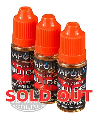 Vapor X Juice Sweet Strawberry 1.8% 3 Pack