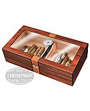 TWO TONE GLASS TOP HUMIDOR