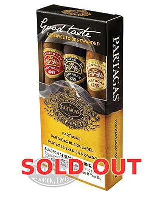 Partagas 3 Pack Sampler