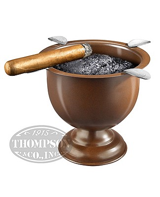 Stinky Cigar Tall Brown Ashtray With 4 Stirrups