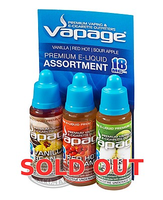 Vapage E-Liquid Flavored 18mg 3pk Assort