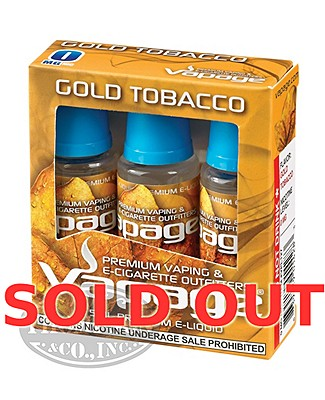 Vapage E-Liquid Gold Tobacco 18mg 3pk