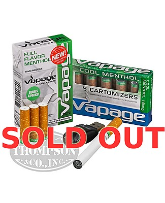 Vapage E-Cigarettes Menthol 18mg Pocket