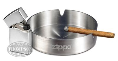 Photo of Zippo Blu2 High Polish Chrome Butane Lighter Plus Zippo Ashtray
