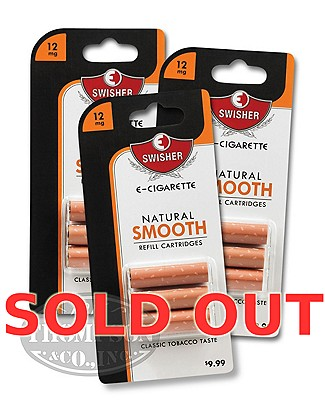Swisher E-Cigarette Natural Smooth 12mg Refill 3 Cartridge 3-Fer