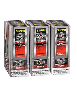 Phillies Krome Ruby Natural Cigarillo Sweet 3-Fer