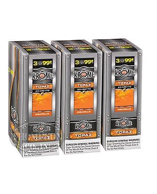 Phillies Krome Topaz Natural Cigarillo Amaretto 3-Fer