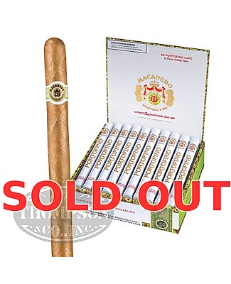 Macanudo Cafe Hampton Court Tubo Plus Humidor Connecticut Corona
