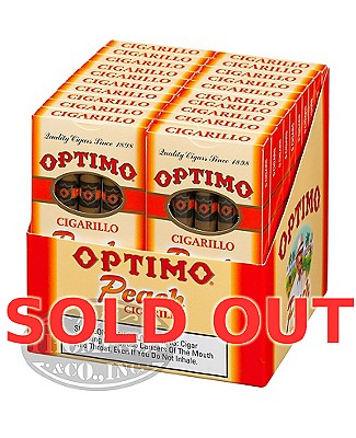 Optimo Cigarillo Claro Peach Plus 25 Pack