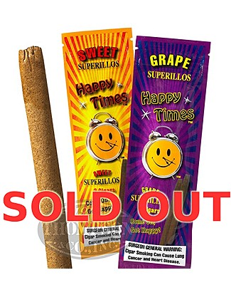 Happy Times Sweet And Grape Foil Fresh Natural Cigarillo Assorted