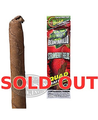 Juicy Bluntarillo Strawberry Fields Natural Cigarillo Strawberry