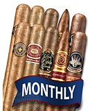 CIGAR TOUR SAMPLER OF THE MONTH 10 CIGARS MONTHLY
