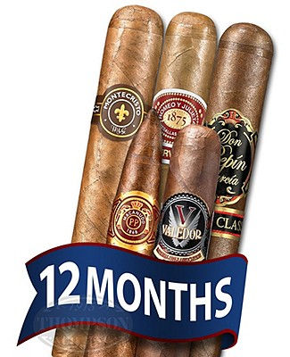 Cigar Tour Sampler Of The Month 5 Cigars For 12 Months