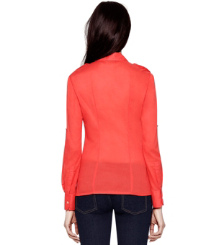 Poppy Red Tory Burch Brigitte Blouse