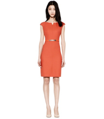 Poppy Red Tory Burch Walsh Dress