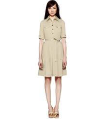 French Khaki Tory Burch Blythe Dress