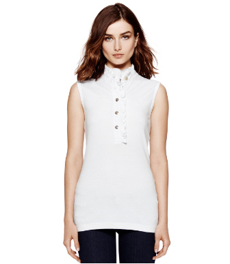 Tory Burch Sleeveless Lidia Polo