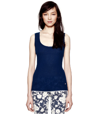 Tory Burch Cashmere Vella Sleeveless Sweater
