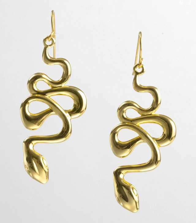 CURVED SERPENT EARRING